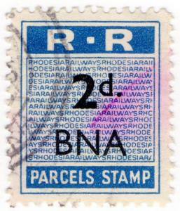 (I.B) Rhodesia Railways : Parcels Stamp 2d (Bindura)