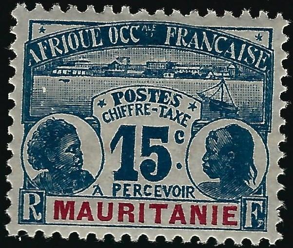 Mauritania J3 Mint OG VF hr ....Chance to bid on a real Bargain!