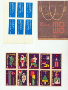 France Czech Swiss Danzig Poster Cinderella Labels (Appx 200+Stamps) NT 8736