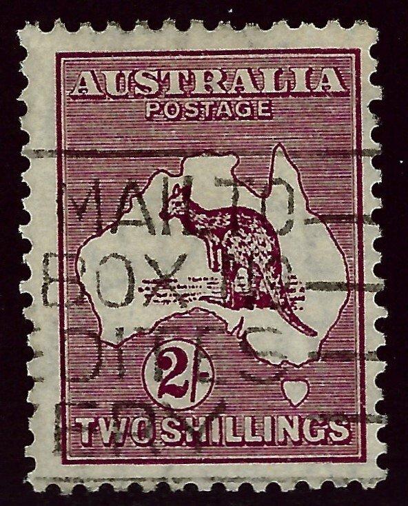 Australia SC#53 Used F-VF SCV$32.50...A very Popular Country!!