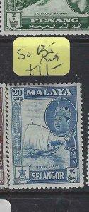 MALAYA  SELANGOR  (PP2901B)  BOAT  50C  SG 135   MOG
