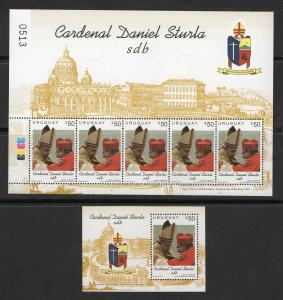 ELEVATION MONTEVIDEO ARCHBISHOP TO CARDINAL RELIGIOUS POPE URUGUAY #2507 2507a