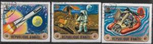 Haiti  Nice set of 3 stamps - Space research issues