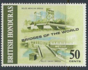 British Honduras SG 323 SC # 290 MLH  Bridges of the World  1971 see scans
