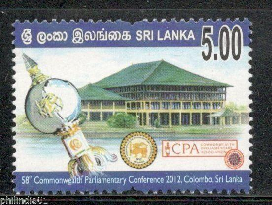 Sri Lanka 2012 Commonwealth Parliamentary Conference Architecture MNH # 3333