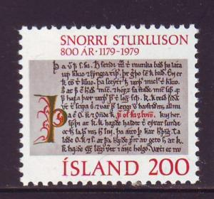 Iceland Sc 518 1979 Olafs Saga Helga stamp mint NH