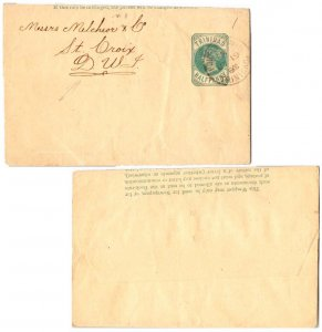 Trinidad 1/2d QV Wrapper 1900 Port-of-Spain, Trinidad Printed matter to St. C...