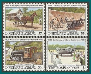 Christmas Island 1988 Settlement, MNH #218-221,SG255-SG258