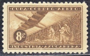 CUBA  SC#  C97  USED  STAMP PLANE & HARVESTERS  1954  SEE SCAN