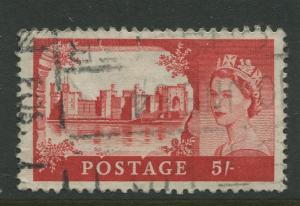 STAMP STATION PERTH Great Britain #372 QEII Castle Definitive Used CV$0.50.