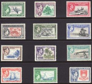 1939 Gilbert & Ellice Islands KGVI complete set MNH Sc# 40 / 51 CV $57.50