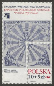 Poland Scott B127 MNH** 1972 semi postal sheet