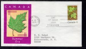 Canada 536 Maple Leaf Summer Jackson Typed FDC