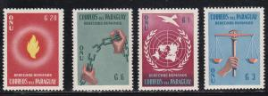 Paraguay # 565-568, Human Rights, Mint H