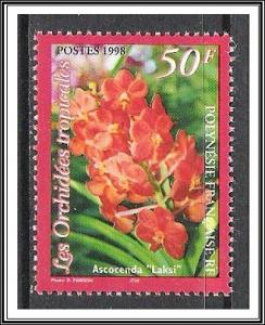 French Polynesia #733 Orchids MNH
