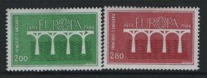 ANDORRA, 323-234, HINGED, 1984, EUROPA