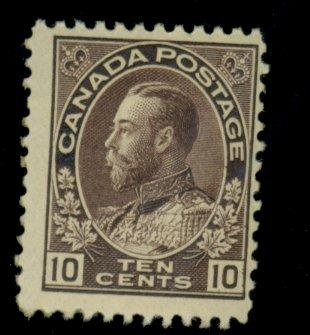 Canada #116 MINT Fine OG Very LH Cat$275