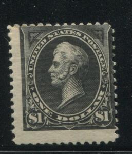 1895 US Stamp #276 $1 Mint Hinged Average Original Gum Catalogue Value $600