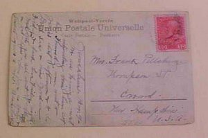 AUSTRIA  PALESTINE JERUSALEM  CANCEL JORDAN CARD CIRCA 1910