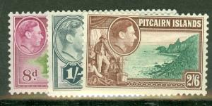 Pitcairn Islands 1-8 mint including 5A and 8A CV $75.90, scan shows only a few