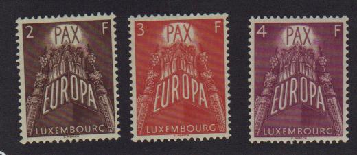 Luxembourg  #329 - 31 Mint VF -  Lakeshore Philatelics