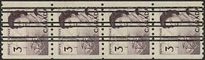 Canada - 1967 3c PRECANCELLED Coil Strip VF-NH #466xx