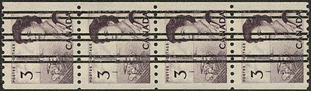 Canada - 1967 3c PRECANCELLED Coil Strip VF-NH #466xx