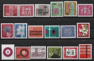 1962-3 Germany mint (mostly MNH) lot of 18