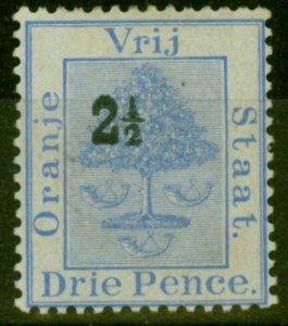 Orange Free State 1897 2 1/2d on 3d Ultramarine SG82a Roman 1 & Antique 2 in ...