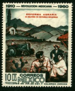 MEXICO 913, 10¢ 50th Anniv Mexican Revolution. MINT, NH. F-VF.