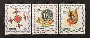 Mexico 1982 #1267-9, Mexican Art, MNH.