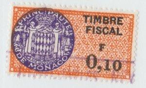 Monaco France revenue fiscal stamp 5-9-21- scarce