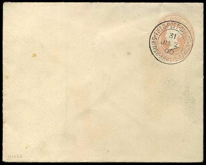 1900 Boer War: British Army S. Africa Field Post office 1d Stationery