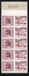 Sweden Sc 1085a 1974 UPU  stamp bklt of 10 mint NH