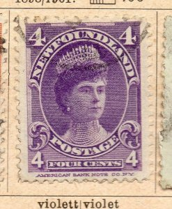 Newfoundland 1898-1901 Early Issue Fine Used 4c. NW-11943