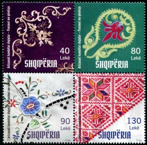 HERRICKSTAMP NEW ISSUES ALBANIA National Craft 2018 Embroidery