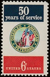USA stamp, Scott# 1421, MNH, Disabled american Verterans, big stamp, #ma001