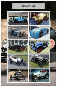 TONGO SHEET IMPERF CINDERELLA BUGATTI CARS