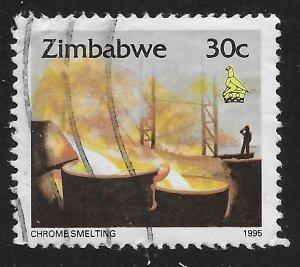 Zimbabwe #727 30c Chrome Smelting