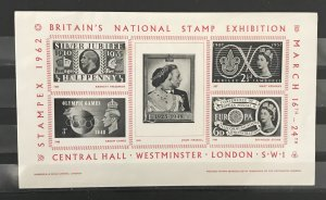 Great Britain 1962 Stampex S/S,MNH(Creases)