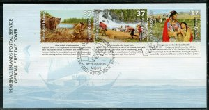 MARSHALL ISLANDS APR 2005 LEWIS & CLARK SET FIRST DAY COVER