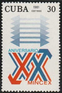 1981 Cuba Stamps Sc 2430 Ministry of Foreign Trade MINCEX NEW