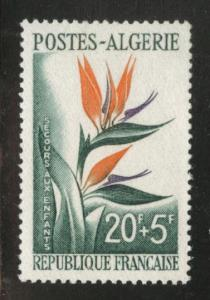 ALGERIA Scott B95 MNH** 1958 semi-postal Bird of Paradise Flower