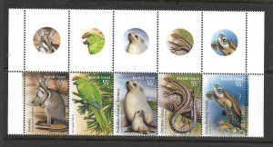 NORFOLK ISLAND,983A, MNH, SS ANIMALS