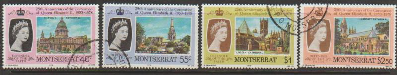 Montserrat SG 422 - 425 set of 4  VFU - Coronation Anniv