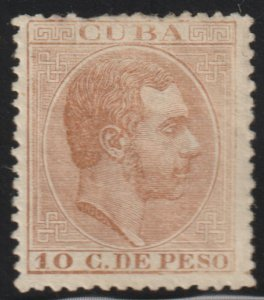 1884 Cuba Stamps Sc 127 King Alfonso Spain  NEW