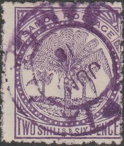 SAMOA - 1890 - SG48 2s6d slate-lilac - Very Fine Used