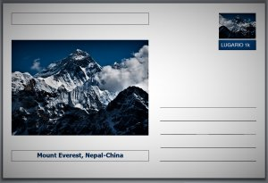 Landmarks - Mount Everest, Nepal-China postcard (glossy 6x4card) #1
