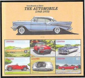 Lesotho #1249  3M  The Automobile sheet of 6 (MNH) CV $7.50