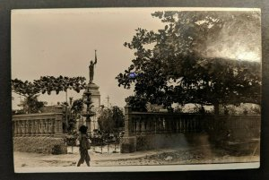 Vintage Statue Barranquilla Columbia London England Real Picture Postcard Cover